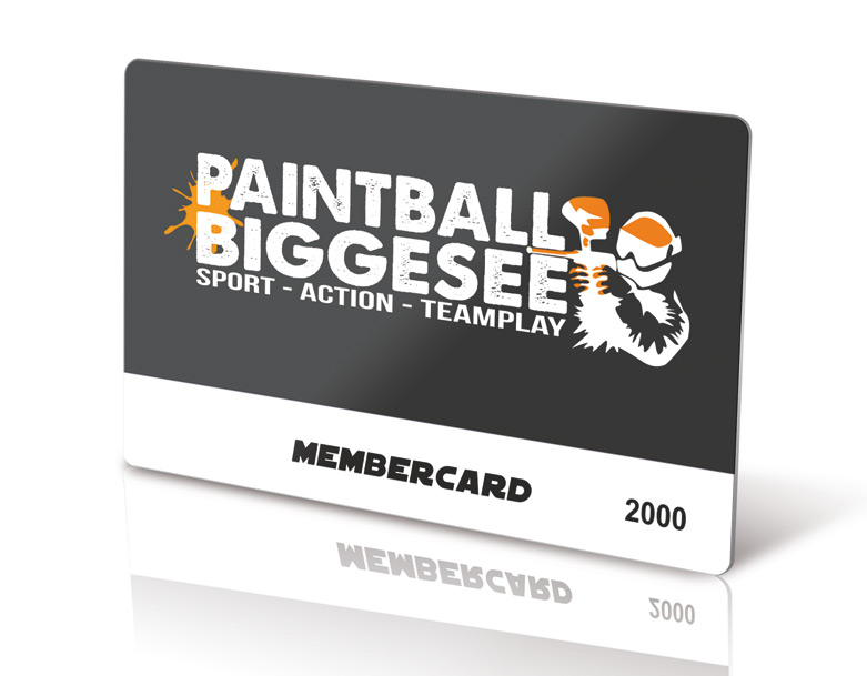 Paintball Biggesee Membercard DELUXE